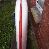 Tahe Marine Wind Solo GFK rot/weiß (Skeg)